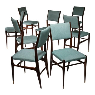 Set of 8 Dining Chairs by Gio Ponti for Cassina For Sale