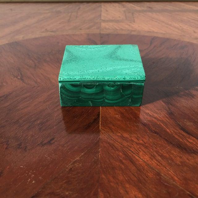 2010s Malachite Trinket Box For Sale - Image 5 of 8