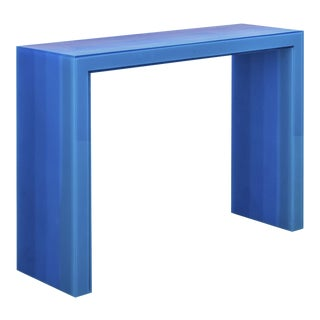 """Console, Gradient, Blue"" Resin, Wood, Steel, 2017, Facture Studio For Sale"