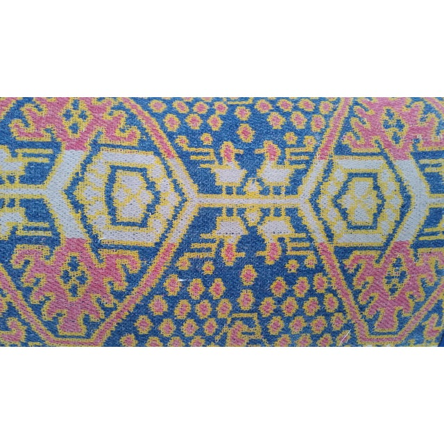 Boho Chic Hand Woven Ikat Pillow For Sale - Image 3 of 5