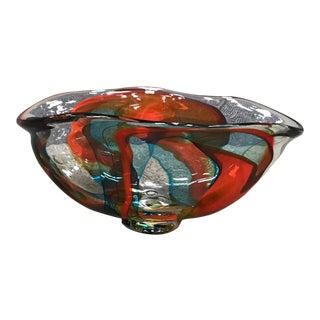 Multicolor Decorative Glass Bowl For Sale