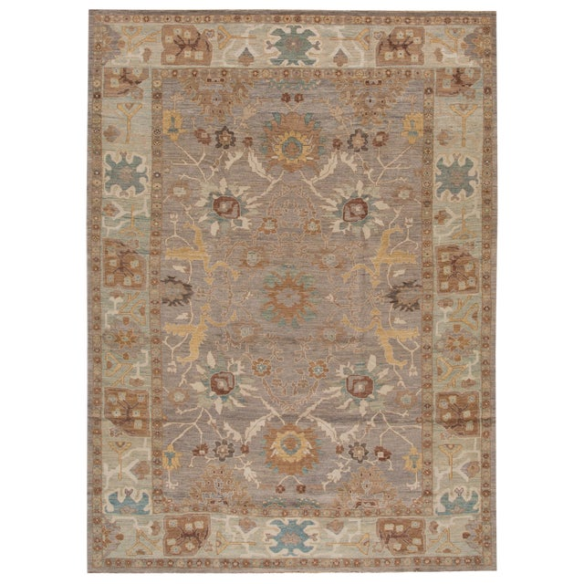 Persian Sultanabad Rug - 10' x 14' For Sale
