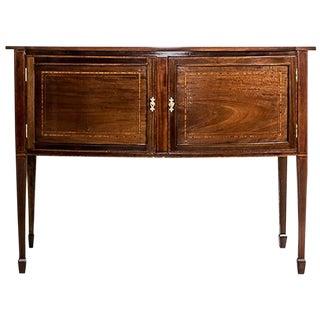 19th-Century Sheraton Cabinet Veneered with Mahogany For Sale