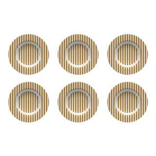 Chairish x The Muddy Dog Stripes Outdoor Bowls, Marigold, Set of 6