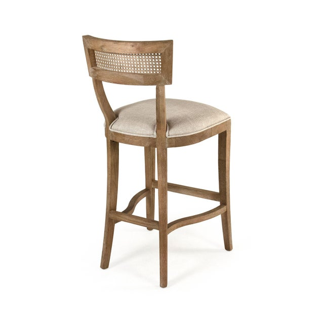 Selborne Cane Back Bar Stool in Cream For Sale - Image 4 of 5