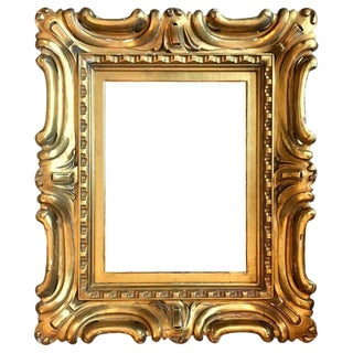 Venetian Sansovino Palatial Early Baroque Style Carved and Gilded Frame For Sale