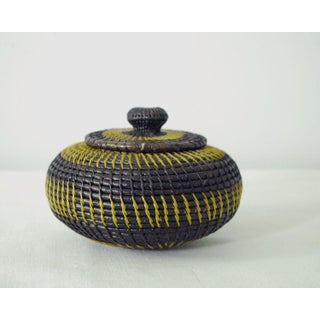 Wounaan Central American Coil Basket With Lid Preview