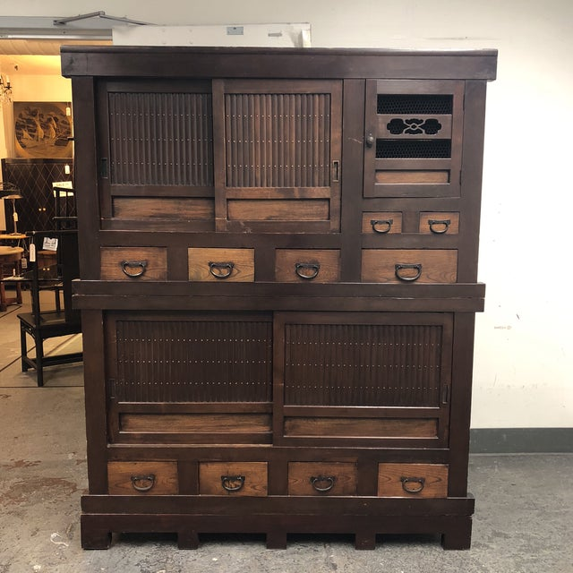 Antique Japanese 3 Piece Tansu Cabinet For Sale - Image 11 of 11 - Antique Japanese 3 Piece Tansu Cabinet Chairish