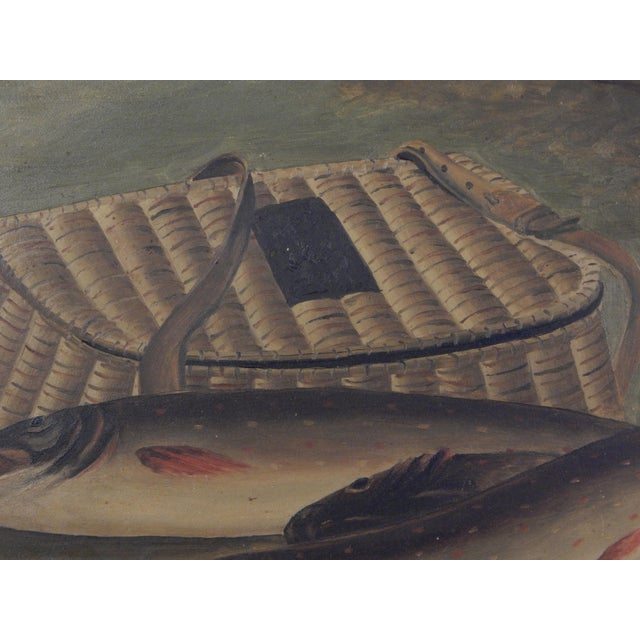 Mid 19th Century Trout and Creel Painting For Sale - Image 5 of 7
