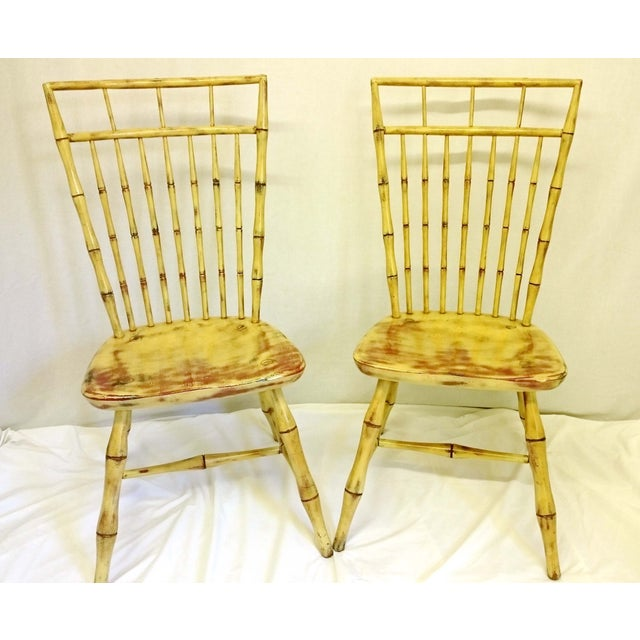 Painted Birdcage Windsor Chairs - A Pair - Image 3 of 11