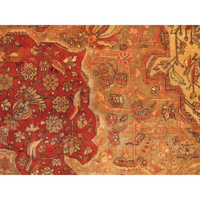 Islamic Exquisite Antique Oversize Mohtashem Kashan Carpet For Sale - Image 3 of 9