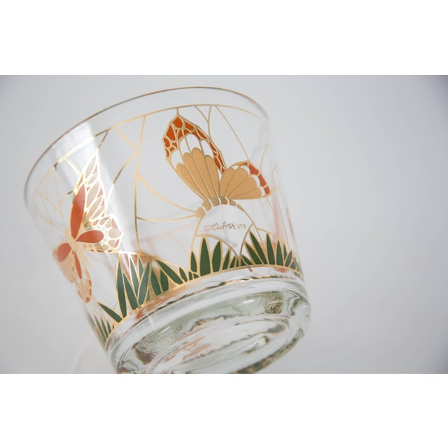 Culver Glass Butterfly Ice Bucket - Image 5 of 5