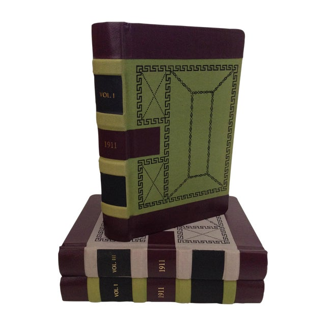 Decorative Leather Bound Books/Journals - S/3 For Sale