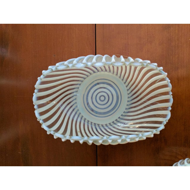 Antique Pressed Opalescent Bowls - Set of 7 For Sale - Image 4 of 6