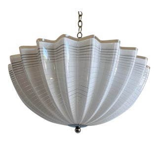 Modern Lucite Pendant Chandelier For Sale