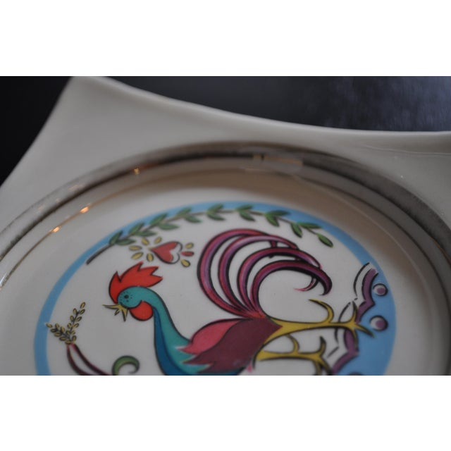 Country Vintage 1950's Hyalyn Rooster Dish For Sale - Image 3 of 6