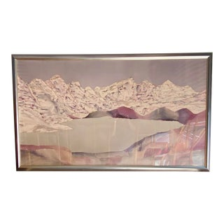 Monumental Abstract Mixed Media Painting Signed Carnegie For Sale