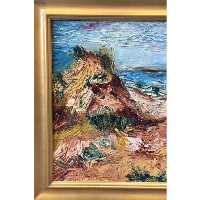 "1960s 1963 Vintage Original ""Fire Island"" Painting For Sale - Image 5 of 9"