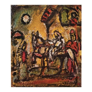 """1950s Georges Rouault """"The Flight Into Egypt"""", First Edition Period Lithograph For Sale"""