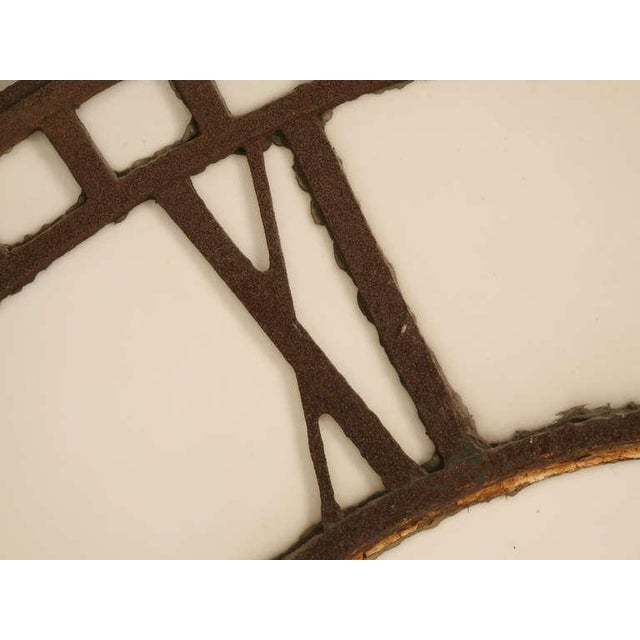 Circa 1860 Cast Iron English Clock Face With Copper Hands For Sale In Chicago - Image 6 of 11