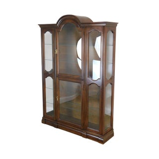 Jasper Cherry Bubble Glass Curio Display Cabinet For Sale