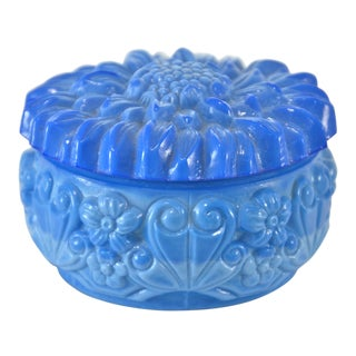 Blue Glass Sunflower Box