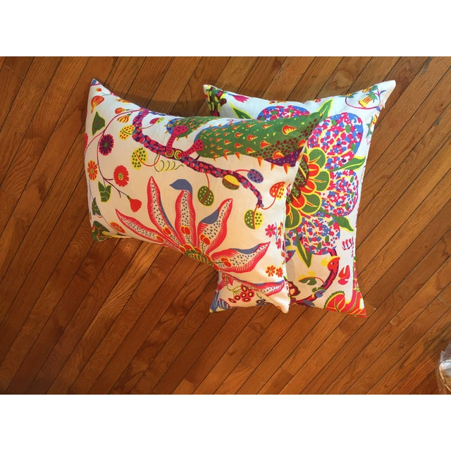 Colorful Floral Pillows - A Pair - Image 4 of 7