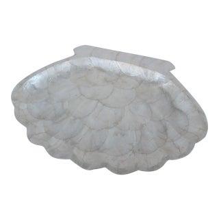 Capiz Shell Scalloped Shaped Serving Tray