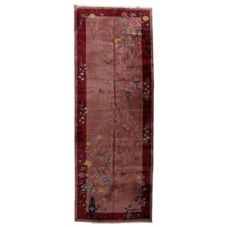 1920s Antique Art Deco Chinese Rug - 6′1″ × 16′10″ For Sale