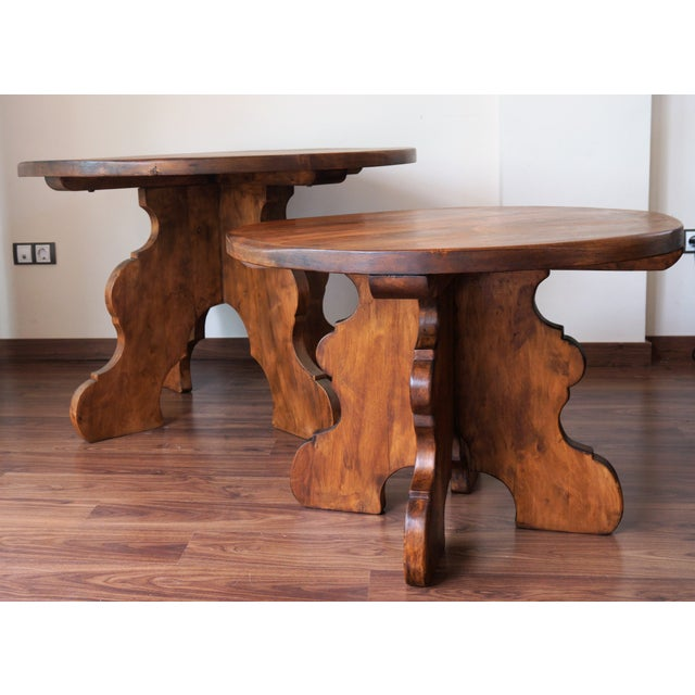 Pair of Country Spanish Round Tables - Image 2 of 10