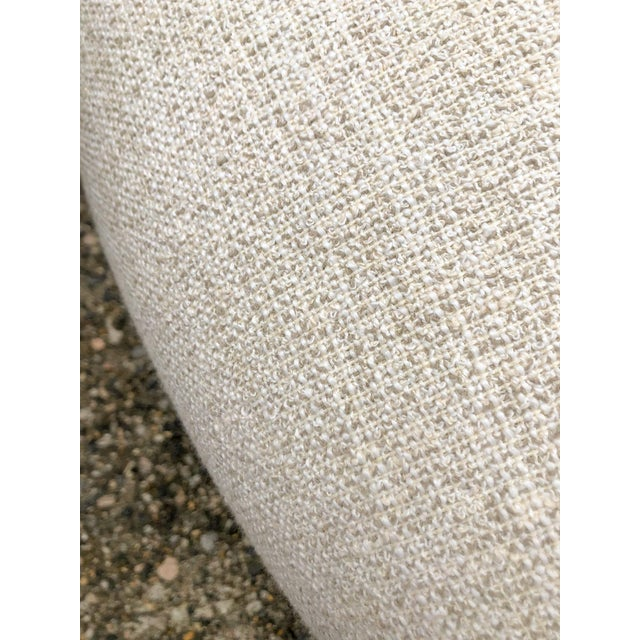 Scalamandre Scalamandre Round Tufted Skirted Ottoman For Sale - Image 4 of 10