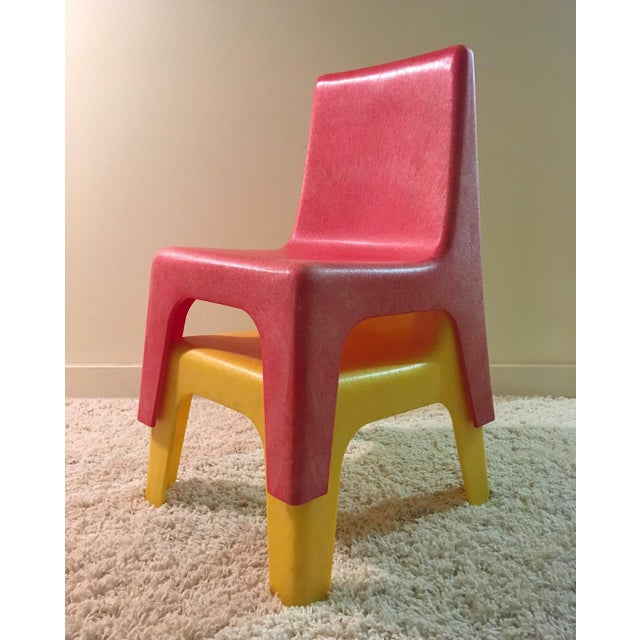 Mid-Century Modern Vintage Iseale Kid's Stacking Chairs - a Pair For Sale - Image 3 of 4