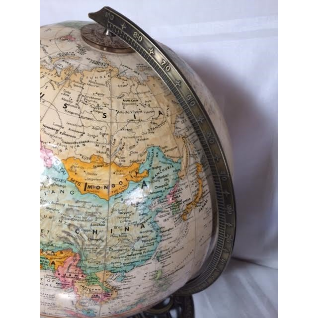 Globemaster Vintage World Globe - Image 5 of 6