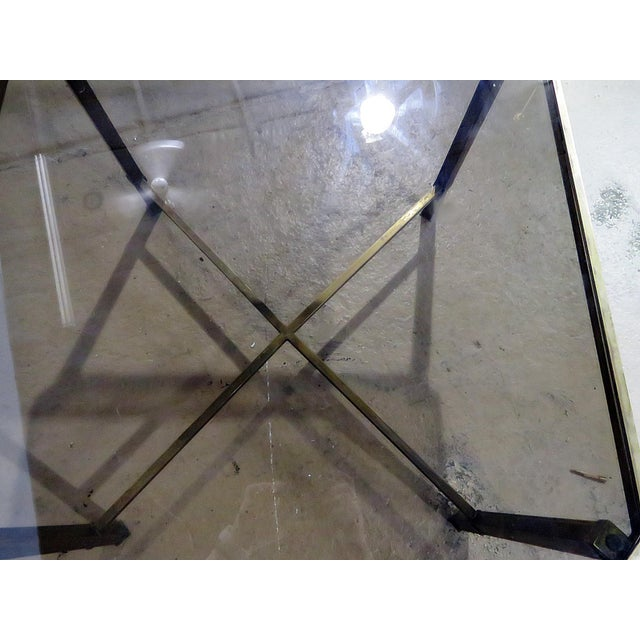 Italian Modern Glass Top Coffee Table For Sale - Image 9 of 11