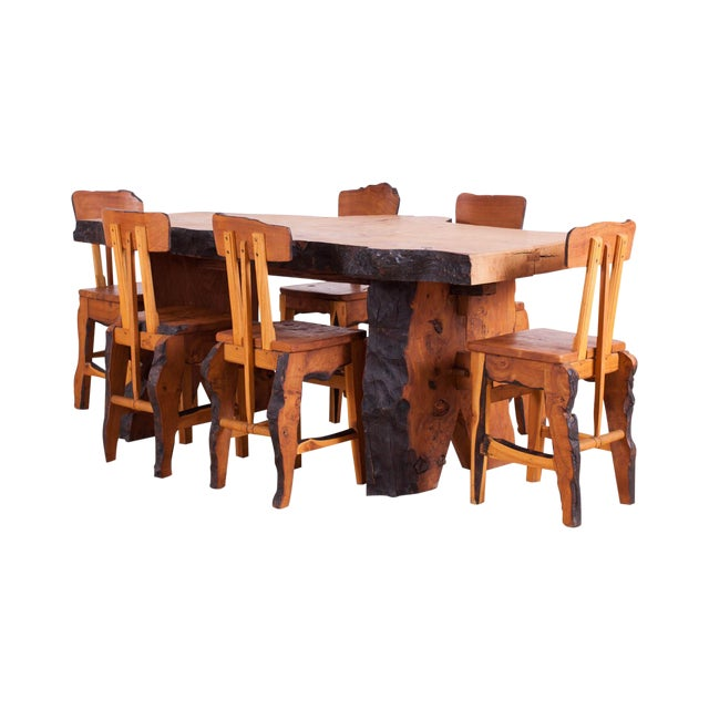 Atelier Marolles WABI SABI Dining table and chairs For Sale