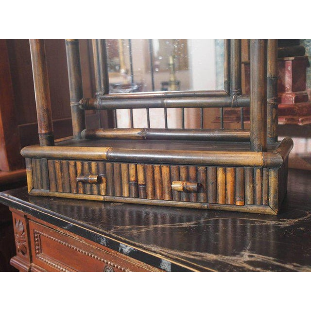 Anglo-Chinese Bamboo Pagoda Form Dressing Mirror For Sale In New Orleans - Image 6 of 6