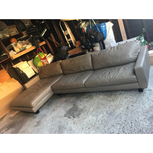 Superb Room And Board Leather Hess Sectional Sofa Pabps2019 Chair Design Images Pabps2019Com