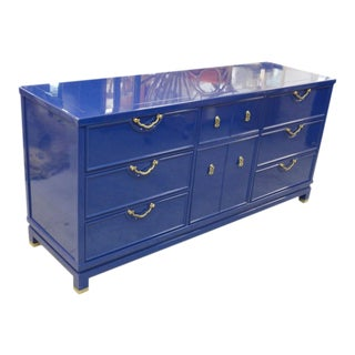 Lacquered Grotto Blue Dresser