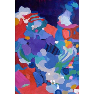 Valerie Erichsen Thomson Original   Teeming Coral   Abstract Painting For Sale