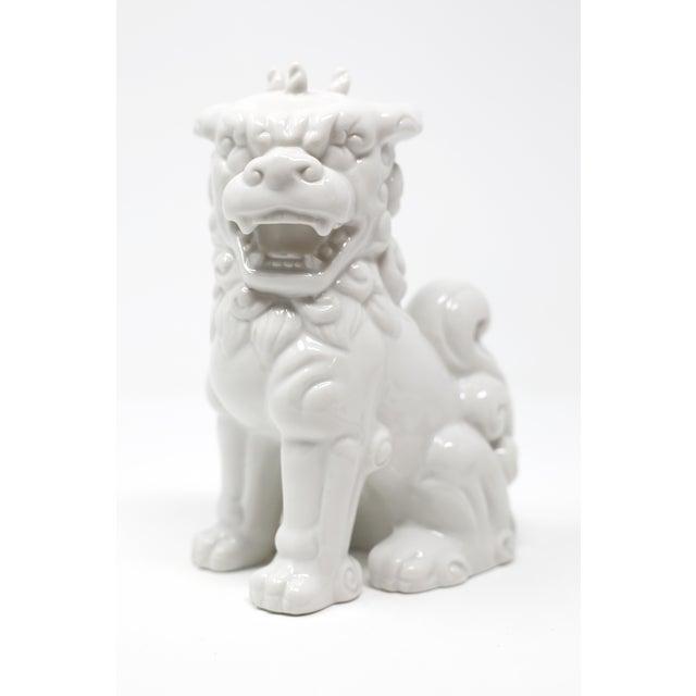 Vintage Blanc De Chine Foo Dog Figurine For Sale - Image 12 of 12