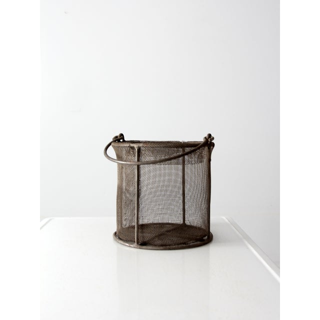 Vintage Wire Mesh Bucket With Handle - Image 4 of 8