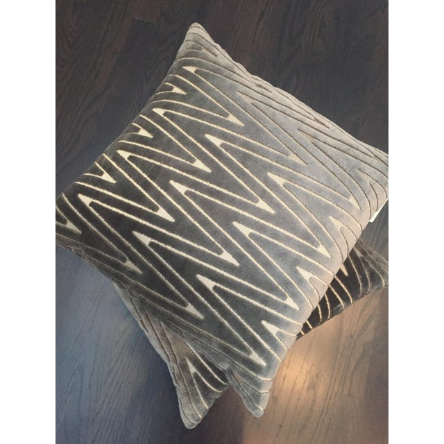 Chevron Throw Pillows - A Pair - Image 6 of 6