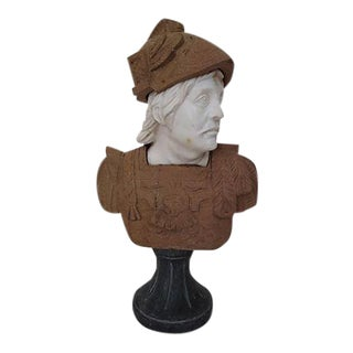 Italian Neoclassical Marble Bust For Sale