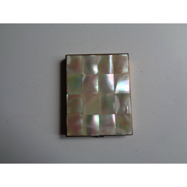 Vintage Mother of Pearl & Brass Compact - Image 2 of 6