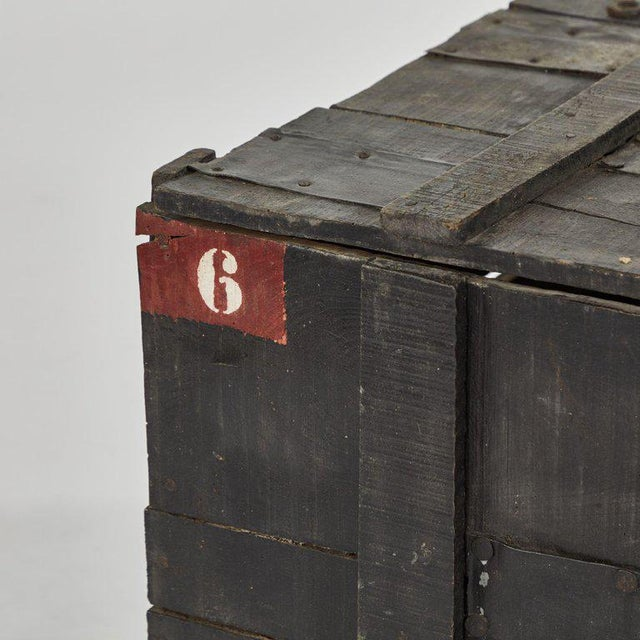 Painted Chest From Belgium Army For Sale - Image 4 of 6