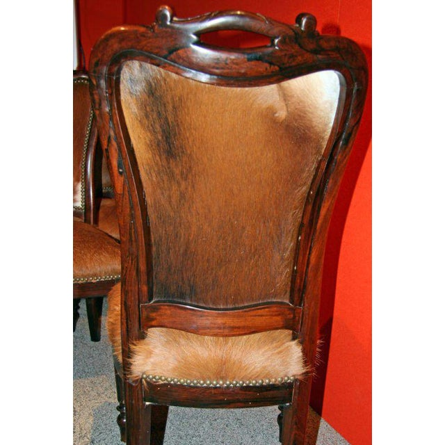 "Italian ""English Makers"" Mahogany Chairs For Sale In Los Angeles - Image 6 of 9"