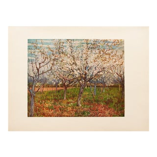 """1950s Vincent Van Gogh, """"The Orchard"""" First Edition Vintage Lithograph Print For Sale"""