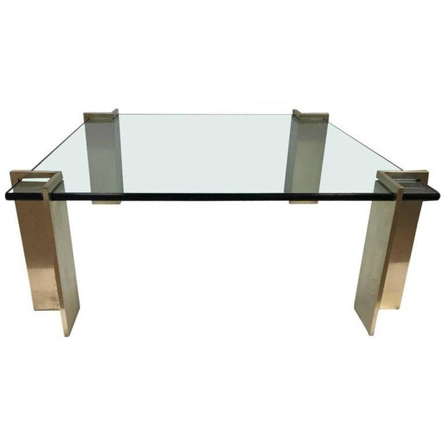 Polished Bronze and Glass Coffee Table For Sale In New York - Image 6 of 6