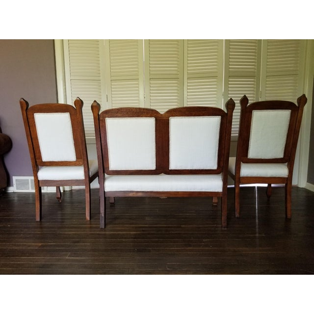 Late 19th Century Boho-Chic Southwestern Antique Settee and Chairs For Sale - Image 5 of 6