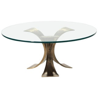 Belgian Brutalist Coffee Table in Solid Bronze, 1970s For Sale